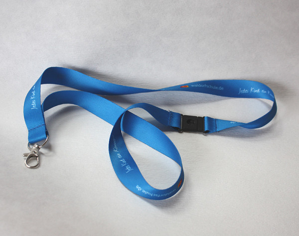 """Schlüsselbänder blau - 10 Stück """"Jedes Kind ein Könner"""""""