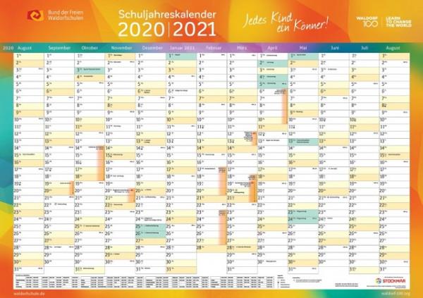 Schuljahres-Kalender 2020-2021
