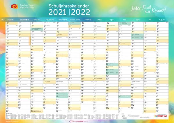 Schuljahreskalender 2021/2022 Format A1