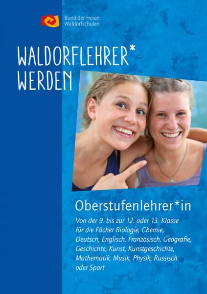 "Faltblatt ""Oberstufenlehrer:in an Waldorfschulen werden"" - 50 Stück"