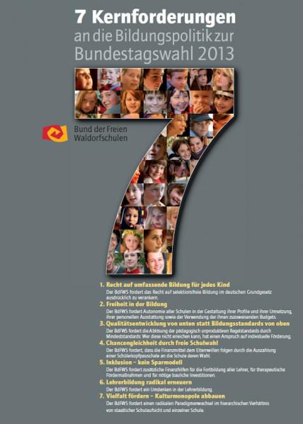 Poster 7 Kernforderungen - DIN A3, 50 Stück